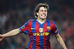 Barcelona's Bojan Krkic celebrates during Champions League match. March 17, 2010. (ALTERPHOTOS/Tati Quinones)