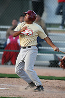 January 16, 2010:  Robert Rocamora (San Marcos, CA) of the Baseball Factory Southwest Team during the 2010 Under Armour Pre-Season All-America Tournament at Kino Sports Complex in Tucson, AZ.  Photo By Mike Janes/Four Seam Images