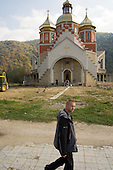Newly build Greek Catholic, or Uniate, church in the Carpathian town of Yaremche.