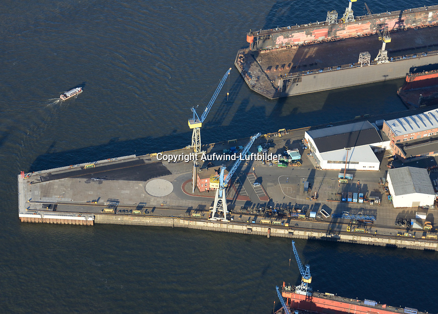 Tollerortspitze Hafenausbau: EUROPA, DEUTSCHLAND, HAMBURG 06.01.2017 Tollerortspitze, Hafenausbau,