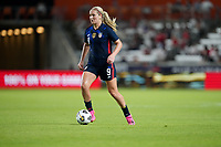 HOUSTON, TX - JUNE 13: Lindsey Horan #9 of the United States moves with the ball during a game between Jamaica and USWNT at BBVA Stadium on June 13, 2021 in Houston, Texas.