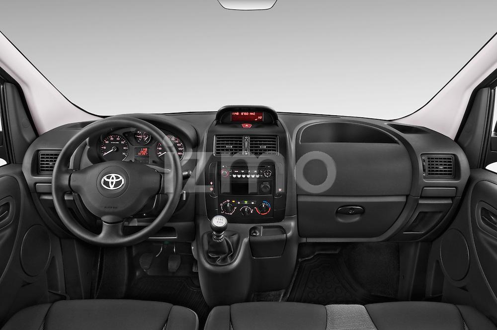 Stock photo of straight dashboard view of a 2013 Toyota Proace Comfort 5 Door Cargo Van Dashboard