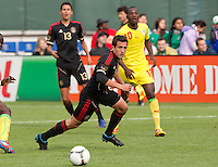 San Francisco, California - Saturday March 17, 2012: David Cabrera in action during the Mexico vs Senegal U23 in final Olympic qualifying tuneup. Mexico defeated Senegal 2-1