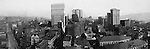 Pittsburgh PA: View of City from the top of the Empire Building. View of the city looking up Liberty Avenue and Fifth Avenue. Henry Oliver, Frick, and Arrott Buildings dominate the skyline. <br />