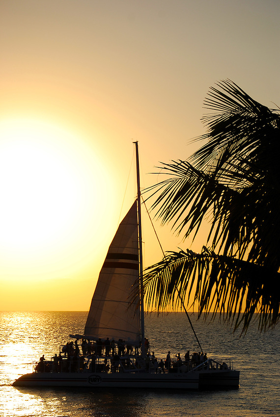 Catermeran off Sunset Wharf, Key West, Florida