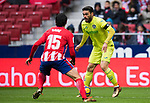 Jorge Molina Vidal (R) of Getafe CF competes for the ball with Stefan Savic of Atletico de Madrid during the La Liga 2017-18 match between Atletico de Madrid and Getafe CF at Wanda Metropolitano on January 06 2018 in Madrid, Spain. Photo by Diego Gonzalez / Power Sport Images
