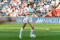 BRIDGEVIEW, IL - JULY 18: Celia Jimenez Delgado #13 of the OL Reign plays the ball during a game between OL Reign and Chicago Red Stars at SeatGeek Stadium on July 18, 2021 in Bridgeview, Illinois.