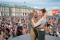 Saint Petersburg, Russia, 09/05/2002..Parades and celebrations mark Victory Day in memory of World War 2, known in Russia as The Great Patriotic War..