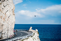 breakaway group along the Mediterranean <br /> <br /> 112th Milano-Sanremo 2021 (1.UWT)<br /> 1 day race from Milan to Sanremo (299km)<br /> <br /> ©kramon