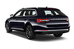 Car pictures of rear three quarter view of 2020 Skoda Superb 5 Door Wagon Angular Rear