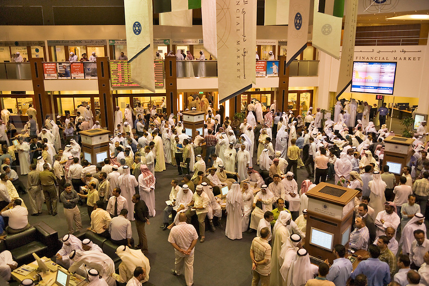 General view of the floor of the Dubai Financial Market, the local Stock Exchange.  Dubai. United Arab Emirates.