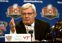 Virginia Tech Head Coach Frank Beamer talks with the reporters during Head Coaches Press Conference at Marriott Hotel at the Convention Center on January 2nd, 2012.