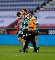 29th April 2021; DW Stadium, Wigan, Lancashire, England; BetFred Super League Rugby, Wigan Warriors versus Hull FC;  Scott Taylor of Hull FC is helped off the field and substituted after being injured in the 11th minute of the match against Wigan