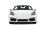 Car photography straight front view of a 2017 Porsche 718 Boxster 2 Door Convertible