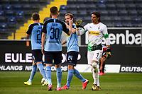 16th May 2020, Commerzbank-Arena, Frankfurt, Germany; Bundesliga football, Eintracht Frankfurt versus Borussia Moenchangladbach;  Nico Elvedi and Yann Sommer Borussia Moenchengladbach pump fists at the end of the game