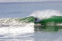 Surfing at Steamer Lane , Santa Cruz, California .  March 2006.  pic copyright Steve Behr / Stockfile