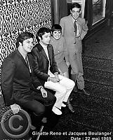 Sujet : Ginette Reno et Jacques Boulanger<br /> Date : 22 mai 1969<br /> Photographe : Photo Moderne<br /> Collection : Jocelyn Paquet<br /> Numéro : DSC32964<br /> Historique de diffusion: