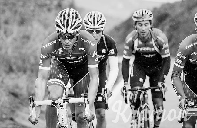 Team Trek-Segafredo winter training camp with Alberto Contador up the rainy Tiede Volcano in Tenerife<br /> <br /> january 2017, Tenerife/Spain