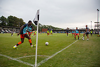 Wycombe warm up pre match during the 2018/19 Pre Season Friendly match between Maidenhead United and Wycombe Wanderers at York Road, Maidenhead, England on 27 July 2018. Photo by Andy Rowland.