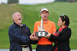 ISPS Handa Wales Open Golf final day at the Celtic Manor Resort in Newport, UK. :  Dutch golfer Joost Luiten celebrates wiining the Wales Open Golf Tournament on the 18th green this afternoon.
