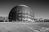 Organizzazione Europea per la Ricerca Nucleare, CERN,  il più grande laboratorio al mondo di fisica delle particelle , Ginevra, Svizzera, Globe Microcosm, museo, sala conferenze, Globe, Globo Scienza e Innovazione, European Organization for Nuclear Research, CERN, the world's largest laboratory for particle physics in Geneva, Switzerland, Globe Microcosm, museum, conference room, Globe, Globe Science and Innovation