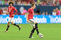 Houston, TX - Thursday July 20, 2017: Phil Jones during a match between Manchester United and Manchester City in the 2017 International Champions Cup at NRG Stadium.