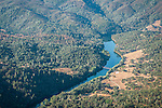 Over Amador County-upper reach of Pardee Reservoir at Middle Bar
