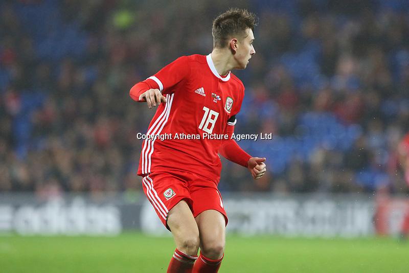 David Brooks of Walesd,the International Friendly match between Wales and Panama at The Cardiff City Stadium, Wales, UK. Tuesday 14 November 2017