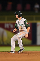Fort Wayne TinCaps shortstop Trea Turner (5) running the bases during a game against the Lake County Captains on August 21, 2014 at Classic Park in Eastlake, Ohio.  Lake County defeated Fort Wayne 7-8.  (Mike Janes/Four Seam Images)