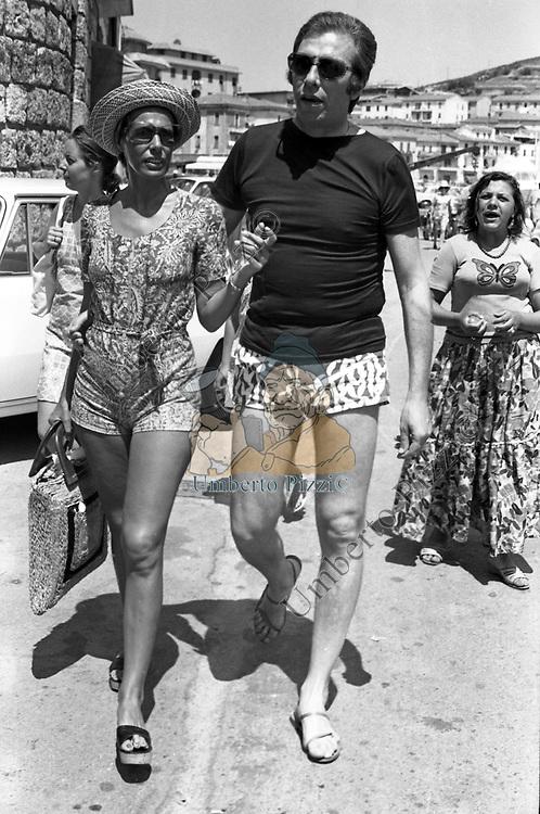 ORNELLA VANONI CON DANILO SABATINI - PORTO ERCOLE 1971