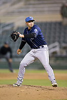 Asheville Tourists relief pitcher Reid Humphreys (37) in action against the Kannapolis Intimidators at Kannapolis Intimidators Stadium on May 5, 2017 in Kannapolis, North Carolina.  The Tourists defeated the Intimidators 5-1.  (Brian Westerholt/Four Seam Images)