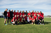 San Jose, CA - November 11, 2017: The USWNT trains in preparation for their friendly against Canada in San Jose.