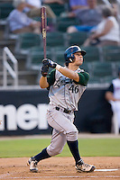 Federico Hernandez #46 of the Lexington Legends follows through on his swing versus the Kannapolis Intimidators at Fieldcrest Cannon Stadium August 19, 2009 in Kannapolis, North Carolina. (Photo by Brian Westerholt / Four Seam Images)
