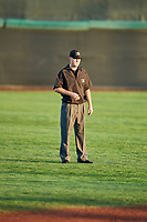 2B umpire Taylor Payne calls the bases at Home of the Owlz on September 11, 2017 in Orem, Utah. The Ogden Raptors played the Orem Owlz for the south division title. Ogden defeated Orem 7-3 to win the South Division Championship. (Stephen Smith/Four Seam Images)