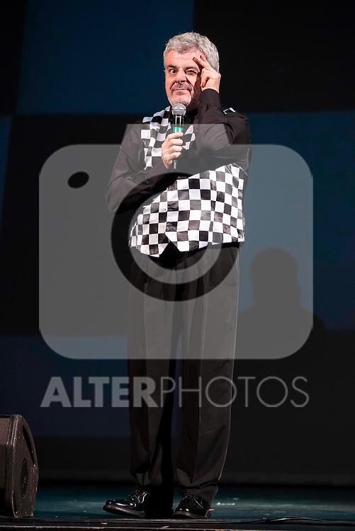 "Spanish comedian Millan Salcedo present his new work ""En mis trece"" at Nuevo Apolo Theater in Madrid, February 17, 2016. (ALTERPHOTOS/BorjaB.Hojas)"