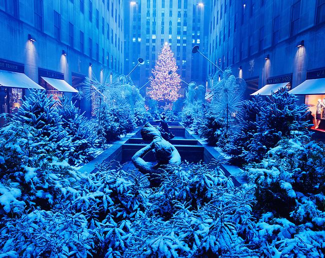 Christmas Display, Rockefeller Center, New York, New York