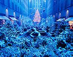 Christmas Display, Rockefeller Center, New York, New York