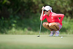 Natalie Gulbis during the World Celebrity Pro-Am 2016 Mission Hills China Golf Tournament on 22 October 2016, in Haikou, China. Photo by Marcio Machado / Power Sport Images