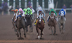 ARCADIA, CA - NOVEMBER 5: Arrogate #10, ridden by Mike Smith, wins the race against California Chrome #4, ridden by Victor Espinoza, in the the Breeders' Cup Classic during day two of the 2016 Breeders' Cup World Championships at Santa Anita Park on November 5, 2016 in Arcadia, California. (Photo by Kazushi Ishida/Eclipse Sportswire/Breeders Cup)