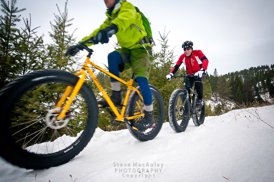 Fat Biking Snow Biking, Missoula, MT.