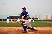 17 August 2007: Catcher Boris Marche practices during the Good Luck Beijing International baseball tournament (olympic test event) at the Wukesong Baseball Field in Beijing, China.