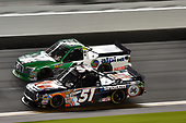 NASCAR Camping World Truck Series<br /> NextEra Energy Resources 250<br /> Daytona International Speedway, Daytona Beach, FL USA<br /> Friday 16 February 2018<br /> Spencer Davis, Kyle Busch Motorsports, JBL/SiriusXM Toyota Tundra, Ben Rhodes, ThorSport Racing, Alpha Energy Solutions/Ride TV Ford F-150<br /> World Copyright: John K Harrelson<br /> LAT Images