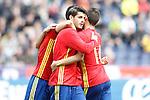 Spain's Alvaro Morata celebrates goal during friendly match. June 1,2016.(ALTERPHOTOS/Acero)
