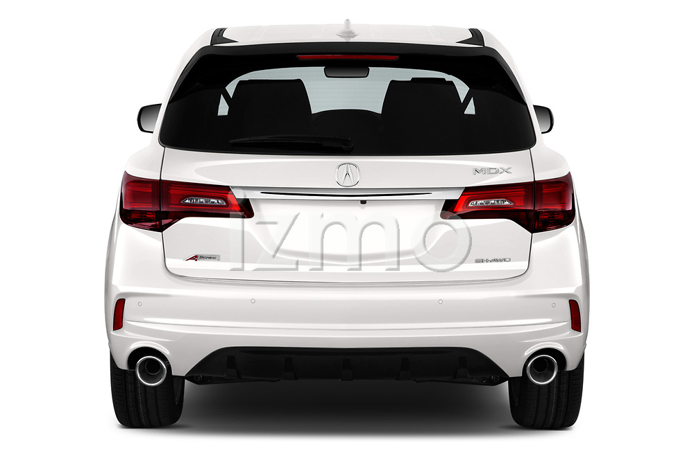 Straight rear view of a 2019 Acura MDX A Spec 5 Door SUV