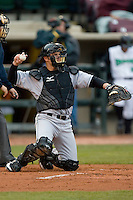 Catcher Tony Delmonico #7 of the Great Lakes Loons on defense versus the Dayton Dragons at Fifth Third Field April 21, 2009 in Dayton, Ohio. (Photo by Brian Westerholt / Four Seam Images)