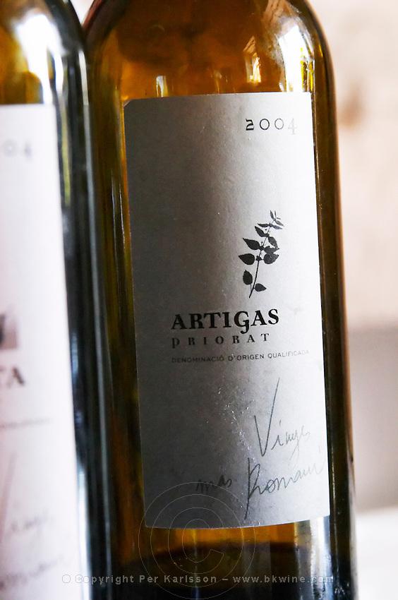 Artigas Priorat Priorato. Vinyes Mas Romani. Spain Europe. Bottle.