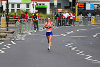 3rd October 2021; London, England: The Virgin Money 2021 London Marathon: Naomi Mitchell of Great Britain running on Butcher Row, Limehouse between mile 21 and 22 starting towards central London and the finish.