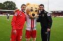 Robin Shroot, Boro Bear and Dani Lopez <br />  - Stevenage v Carlisle Untied - Sky Bet League 1 - Lamex Stadium, Stevenage - 21st September, 2013<br />  © Kevin Coleman 2013