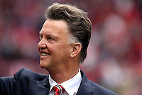 Pictured: Manchester United manager Louis Van Gaal. Saturday 16 August 2014<br />