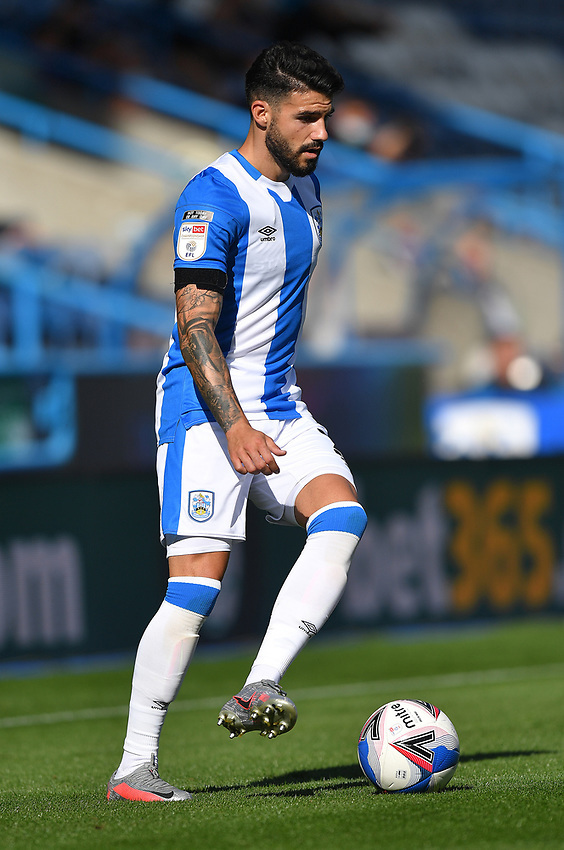 Huddersfield Town's Pipa<br /> <br /> Photographer Dave Howarth/CameraSport<br /> <br /> The EFL Sky Bet Championship - Huddersfield Town v Norwich - Saturday September 12th 2020 - The John Smith's Stadium - Huddersfield<br /> <br /> World Copyright © 2020 CameraSport. All rights reserved. 43 Linden Ave. Countesthorpe. Leicester. England. LE8 5PG - Tel: +44 (0) 116 277 4147 - admin@camerasport.com - www.camerasport.com